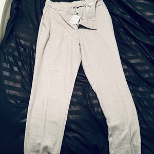 Cropped grey slacks